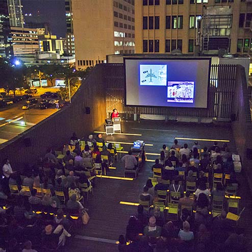 The Contemporary Austin Rooftop Architecture Film Series